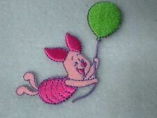 Disney Pooh Piglet with Balloon Embroidered Iron On Applique Patch
