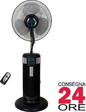 Ventilatore a Piantana Nebulizzatore Pale 40 cm Oscillante Timer Telecomando