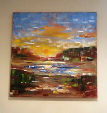 LOCAL PICKUP ONLY SUNRISE, OIL ON WRAPPED CANVAS, BEAUTIFUL, LOCAL NJ ARTIST!