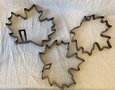 Lot of 3 Williams Sonoma Maple Leaf Pancake Molds