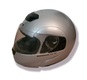 Fulmer Modus AF-M Full Face Helmet Silver with Black Trim Youth Small