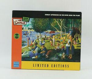 Rare Simpsons Limited Editions Sunday Afternoon On The River 1000 Jigsaw Puzzle
