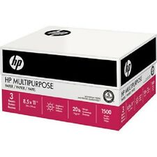 HP Paper Letter Print Fax & Copy Paper 20lb  96 Bright 1500 sheets (3 Reams)