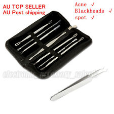 Acne Blackhead Pimple Extractor Remover Needle Clip Tweezer Skin Clean Tools Kit