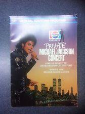 Pepsi Presents Private Michael Jackson Concert March 3 1988 at MSG Program