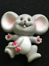 Russ Valentine Mouse Brooch Pin