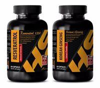 Immune support - RESVERATROL – KOREAN GINSENG COMBO - resveratrol and grape seed
