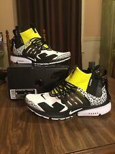 "Authentic Nike Air Presto Mid x Acronym ""Dynamic Yellow"" US Size 9"