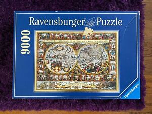 Ravensburger 9000 BIG WORLD MAP 1611 Jigsaw Puzzle by Pieter Van den Keere