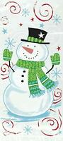 SNOWMAN SWIRL Christmas Cellophane Cello Party Sweet Cookie Bags - Pack of 20