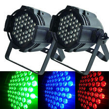 2Pack DJ BAR Disco Par64 162W LED Stage Lighting RGBW DMX512 Party Strobe Lamp