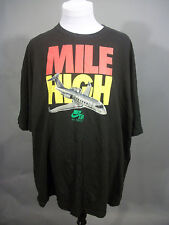 Nike MILE HIGH Club Air Force 1 Plane Graphic Black T-shirt XL Fits like 2-3X