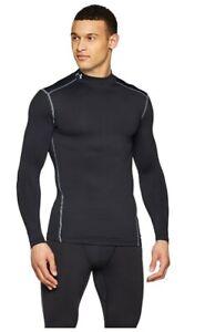 Under Armour Mens ColdGear Compression Mock Long Sleeve T-Shirt Black Size L $65