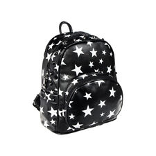 Blue Banana Stars & Studs Black White Backpack Ladies Gothic Faux Leather Bag