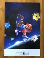 2009 Official Super Mario Galaxy / Sonic Chronicles Dark Brotherhood Poster RARE