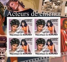 ELIZABETH TAYLOR (Cleopatra) Actress & Film Stamp Sheet #3 of 5 (2011 Burundi)