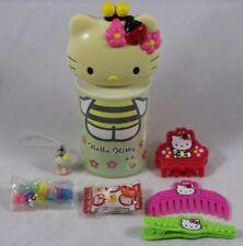 "HELLO KITTY McDonalds Bee Ladybug 6.5"" Tube with Hair Accessories + More Sanrio"