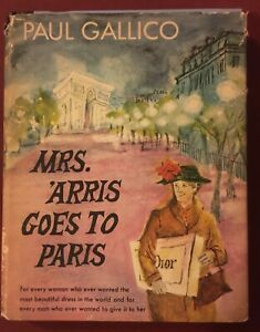 MRS. 'ARRIS GOES TO PARIS by Paul Gallico 1958 Illustrated First Edition HC/DJ