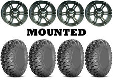 Kit 4 Efx MotoClaw Tires 27x10-14 on Itp Ss212 Matte Black Wheels Ter(Fits: More than one vehicle)