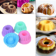 12pcs/set Baking Jelly Mould Silicone Pudding Cupcake Muffin Donut MoY*ss