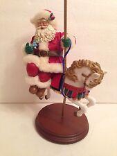 Vintage Fabriche Santa On Merry Go Round Horse