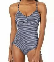 NWT prAna Moorea Blue Anchor Stripe One-Piece Swimsuit Women's Size XS