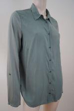 SPLENDID Olive Green Collared Pima Cotton / Modal & Rayon Blouse Top Sz:XL