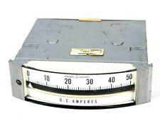 Ge General Electric Dc Direct Current Amperes Panel Meter 0 50