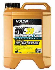 Nulon Full Synthetic Diesel Formula Long Life Engine Oil 5W-30 10L SYND5W30-10