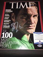 Roger Federer Signed 11x14 Photo Tennis Superstar Switzerland Beckett #2
