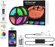Music Sync LED Strip Lights 16.4ft/5m RGB 300 LED Color Changing String Lights