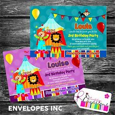 Personalizzato Compleanno Inviti Circo Festa x 5