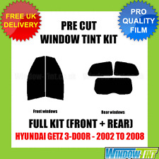 Hyundai Getz 3-door 2002-2008 Full Pre Cut Window Tint Kit