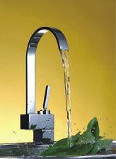 Luxury Chrome Single Lever Handle Side Action Sink Kitchen Mixer Tap Taps Faucet