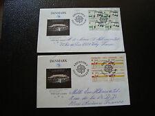 DANEMARK - 2 enveloppes 1er jour 2/5/1985 europa (cy13)  denmark