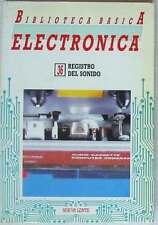 REGISTRO DEL SONIDO - BIBLIOTECA BÁSICA ELECTRÓNICA Nº 36 - VER ÍNDICE