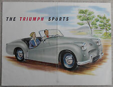 Triumph TR2 sports car 1954 full colour fold out brochure - folded