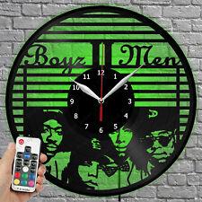 LED Clock Boyz II Men Vinyl Record Wall Clock Led Light Wall Clock 4277