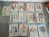 VINTAGE LOT OF 13 SEWING PATTERNS McCALLS, SIMPLICITY 10-12 SIZES