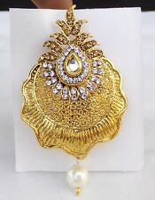 Ethnic Gold tone Suit/Saree Brooch Pin Indian Traditional Dress Women Accessory