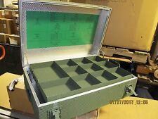 "26""X17""X8"" Military Issue Aluminum Portable Chest Tool Box Acc.  Stowage [E1S2]"