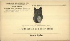 New York City Corbett Bros Staple & Ribbons Kitty Cat Emblem Gov't Postal Card
