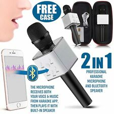 UK Q7 Wireless Bluetooth Magic Karaoke Microphone Speaker MINI USB mic Speaker