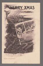1909 Postcard Santa Claus in Airship (E.B. Scofield)