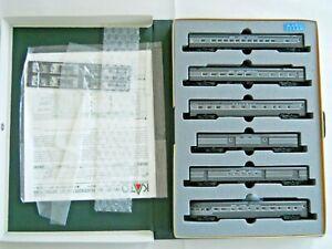 Kato N Scale 106-013 New York Central Smooth Side Passenger 6 Car Set LN/OB