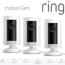 RING Indoor Cam x 3 Compact Camera 1080p HD Live View Night Vision Two Way Audio