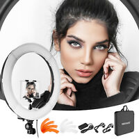 """Neewer Camera Photo Video 18"""" Dimmable LED Ring Light with Color Filters & Clip"""