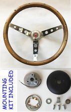 1969-1993 Oldsmobile Cutlass 442 GRANT Walnut Wood Steering Wheel 13 1/2""