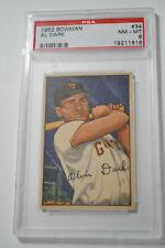 1952 Bowman - Al Dark - #34 - PSA 8 - NM-MT