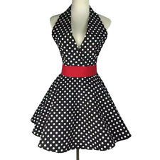 Sexy Lady V-neck Female Sleeveness Full Apron Dress Home Working Uniforms Aprons